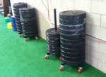 Plate Rack with wheels